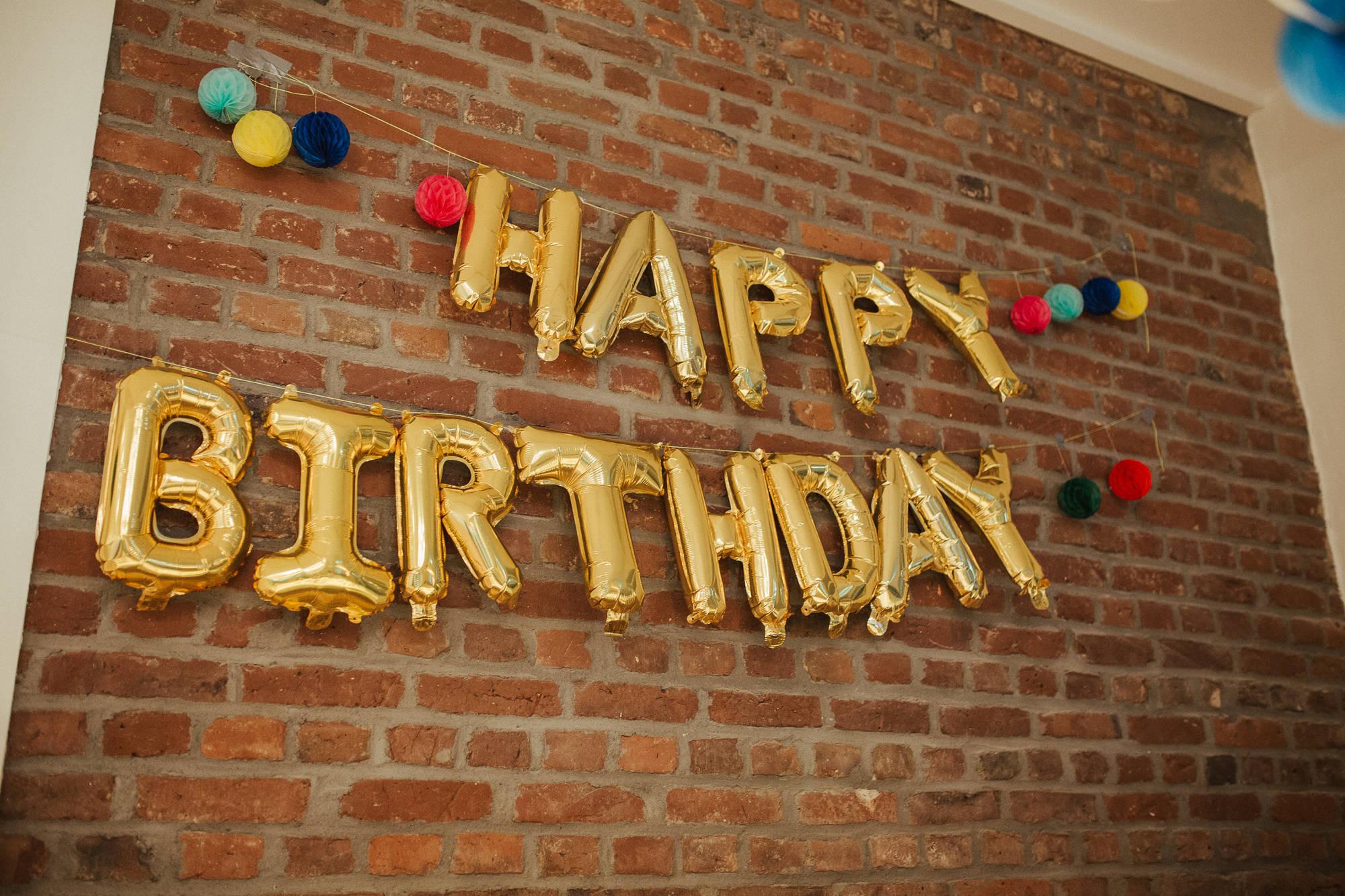 Happy Birthday Deko beim Kindergeburtstag